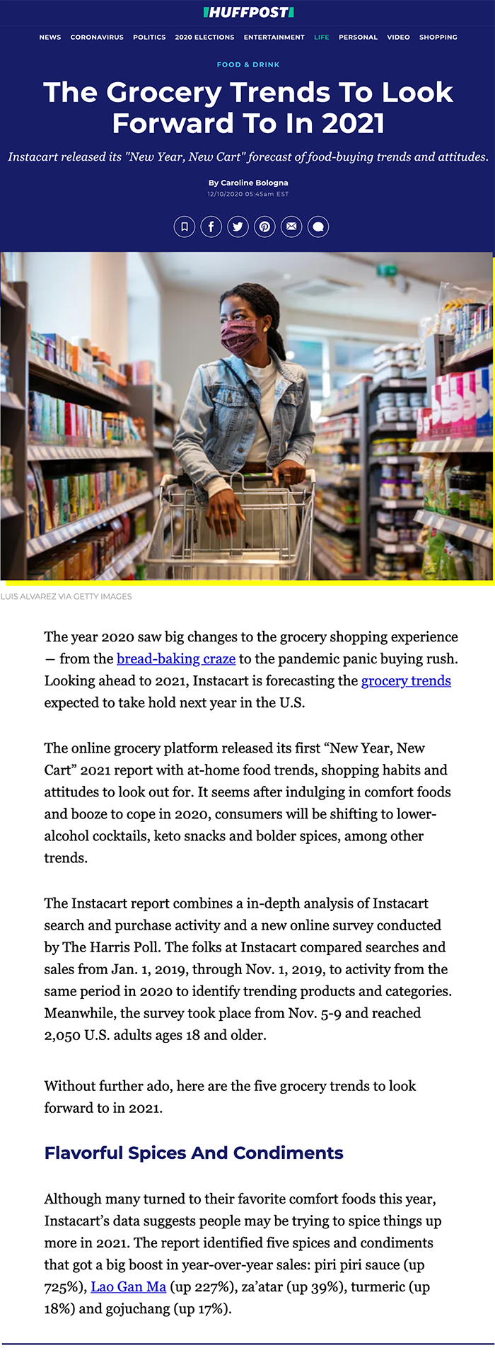 HuffPost - The Grocery Trends To Look Forward To In 2021